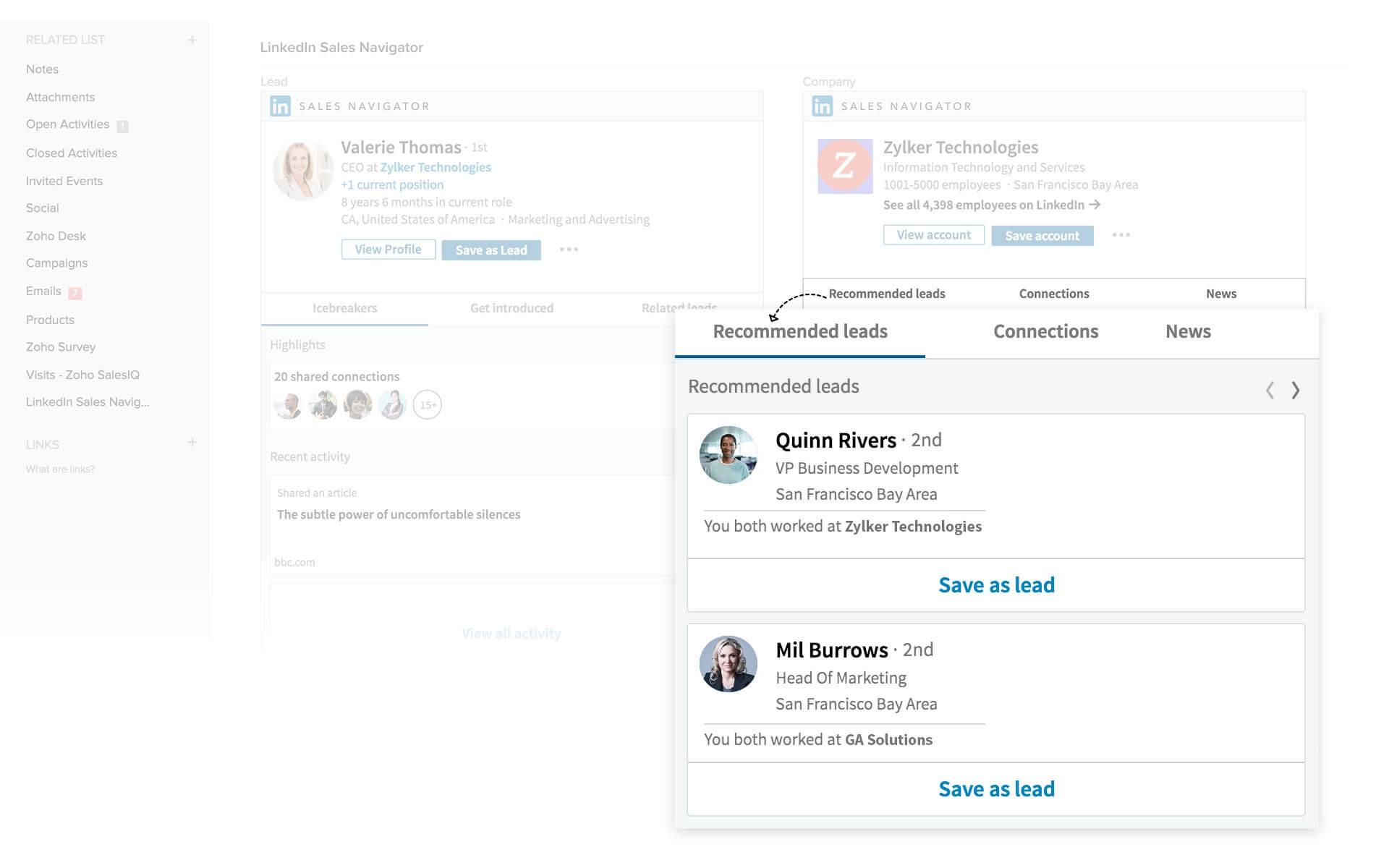 Leads - Linkedin CRM7